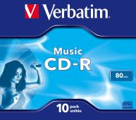 CD-R Verbatim Audio 80 minut jewel box