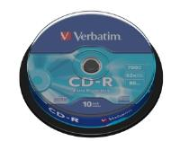 CD-R Verbatim 700MB/80min, 52x, Spindl, 10ks